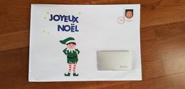 Grande Enveloppe Prêt à Poster Père Noël 2019 Pour Les écoles Ouverte Adresse Masquée Sur La Photo N°1 - Postwaardestukken