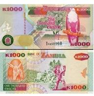 BILLET ZAMBIE 1000 KWACHA - Zambie