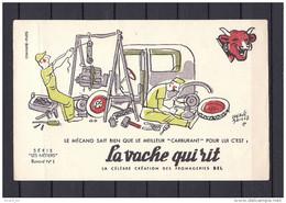 """Buvard """"la Vache Qui Rit"""", Les Métiers N°1: Le Mécano, Illustrateur Hervé Baille - Leche"""