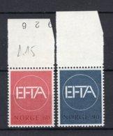 NOORWEGEN Yt. 505/506 MNH** 1967 - Nuovi