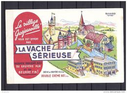 """Buvard  La Vache Sérieuse, """"le Village Grosjeanville"""", Moulin à Eau, Château, Usine - Leche"""