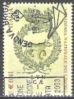 Italia 2003 Michel 2899 O Cote (2006) 0.80 Euro 100 Ans Académie Des Lyncéens Cachet Rond - 2001-10: Usados