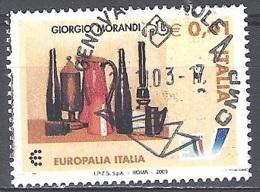 Italia 2003 Michel 2927 O Cote (2006) 0.80 Euro Giorgio Morandi Nature Morte Cachet Rond - 2001-10: Usados