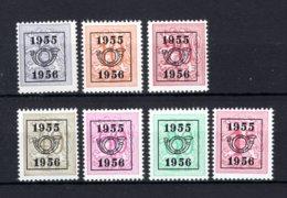 PRE652/658 MNH** 1955 - Cijfer Op Heraldieke Leeuw Type E - REEKS 48 - Préoblitérés