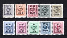 PRE666/675 MNH** 1957 - Cijfer Op Heraldieke Leeuw Type E - REEKS 50 - Typos 1951-80 (Chiffre Sur Lion)