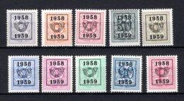 PRE676/685 MNH** 1958 - Cijfer Op Heraldieke Leeuw Type E - REEKS 51 - Préoblitérés