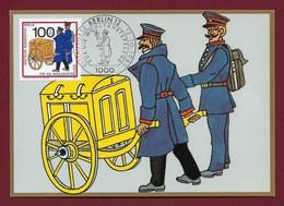 Berlin 1989  Mi.Nr. 854 , Postbeförderung - Preußische Postbeamte - Maximum Card - Erstausgabe Berlin 12.10.1989 - Maximumkarten (MC)