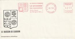 "Env. De ""Le Buisson De Cadouin - 24, Dordogne"" Du 23-07-1991, ""Porte Ouest Du Périgord Noir"" NE 73728 - EMA (Printer Machine)"