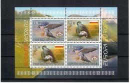 Georgia / South Ossetia . EUROPA 2019. National Birds. (Arms,Flag) . S/S:40,40,50,50 - Georgia