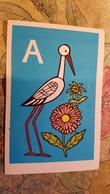RUSSIAN ABC By Khromtsova - 1978  Postcard - Stork - Oiseaux