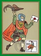 Berlin 1989  Mi.Nr. 852 , Postbeförderung - Briefbote - Maximum Card - Erstausgabe Berlin 12.10.1989 - Maximumkarten (MC)
