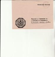 H 4 - Enveloppe Gendarmerie  De L'Air LUXEUIL - Marcofilie (Brieven)