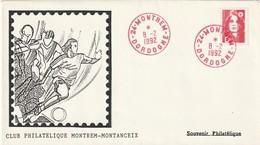 """Env. De """"Montrem - 24, Dordogne"""" Du 08-02-1992, """"Club Philatélique Montrem-Montanceix"""" Sur YT 2712 (encre Rouge) - Marcophilie (Lettres)"""