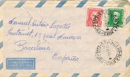 35052. Carta Aerea ARAGUARI MANNA (Minas Gerais) Brasil 1966. Carteria Barcelona - Brazilië