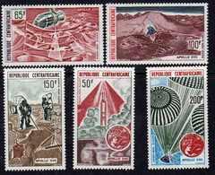 Centrafricaine P.A.  N °  124 / 28   XX : Apollo XVII,  Les 5 Valeurs,  Sans Charnière TB - Central African Republic
