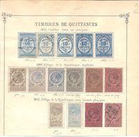 Fiscaux Lot De Timbres De Quittances - Fiscaux