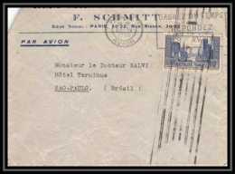 4400 France Lettre (cover) Aviation Krag N°261 T3 La Rochelle Paris Pour Sao Paulo Brésil 20/4/1935 - Marcophilie (Lettres)