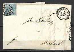 BAVIERE    -   1860  -   Belle  Lettre ( Facture )  Pour  Aichach . - Germania
