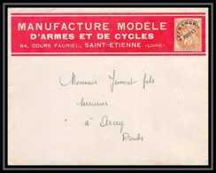 4531 France Lettre Préo N°39 Mmanufrance D'armes Et De Cycle Manufrance Saint Etienne Loire Arcey Doubs 1923 - Marcophilie (Lettres)