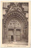 MONTDIDIER SOMME :  PORTAIL DE L'EGLISE SAINT SEPULCRE - N° 11 - Circulé Vers CASTRES - Montdidier