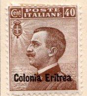 ERYTHREE (Colonie Italienne) - 1908-16 - N° 34 - 40 C. Brun - (Timbre D'Italie De 1906-11) - Eritrea