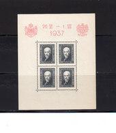 Pologne 1937 Yvert BF 4 ** Neuf Sans Charnière Visite Roi Carol De Roumanie. (2047t) - Blocs & Feuillets