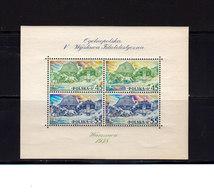Pologne 1938 Yvert BF 5 ** TB Neuf Sans Charnière Commémoration Exposition Philatélique Varsovie. (2048t) - Blocs & Feuillets