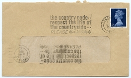 Slogan Postmark On Cover Country Code / Countryside, 1969 - Double Franking - 1952-.... (Elizabeth II)