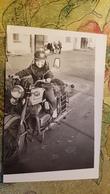 Petit Garçon - Young Little Boy Riding Motorbike - Vintage Photography 1977  Old USSR Photo - Moto - Cyclisme