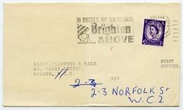 Slogan Postmark On Cover BRIGHTON & HOVE Top Ten Resorts, 1967 / Strand, London - 1952-.... (Elizabeth II)