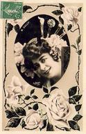 M.SULLY    ........ CARTE PHOTOGRAPHIQUE PHOTO REUTLINGER AVEC DÉCOR DE ROSES - Artistes