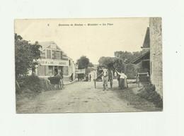 """78 - MONTALET - La Place Animé Attelages Devanture  """" PELLETIER """"  Marchand De Vins Aubergiste Bon état - Other Municipalities"""