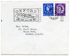 Slogan Postmark On Cover OXFORD - English Bach Festival, 1965 / Address - China Walk, London - 1952-.... (Elizabeth II)
