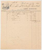 Nota Sneek 1847 - Schip - Palmboom - Anker - Niederlande