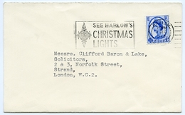 Slogan Postmark On Cover HARLOW's Christmas Lights, 1967 / Barclays Bank - Postal Stationery - 1952-.... (Elizabeth II)