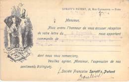 COMMERCE ( PRODUITS VETERINAIRES ) SPRATT'S PATENT 38 Rue Caumartin 9° PARIS - AR De Commande 1926 - CPA - Marchands