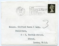 Slogan Postmark Victoria & Albert Museum, Sunday 1968 / Address - Strand, London - 1952-.... (Elizabeth II)