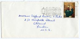 Slogan Postmark CHELTENHAM Christmas Lights 1967 / Address - Strand, London - 1952-.... (Elizabeth II)
