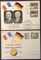 A4 Staatsbesuch De Gaulle Bundesrepublik 196 197 Stuttgart Fussball Deutschland - Frankreich 1962 Lot 2 Cartes - [5] Berlín