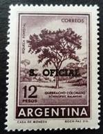 Argentine Argentina 1955 Arbre Tree Surchargé Overprinted S. OFICIAL Yvert S396A ** MNH - Service