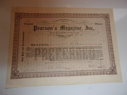 PEARSON'S MAGAZINE INC. (USA) - Shareholdings