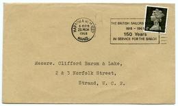 Slogan Postmark On Cover BRITISH SAILORS SOCIETY 150 YEARS / HARROW WEMBLEY 1968 - 1952-.... (Elizabeth II)