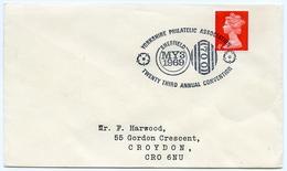 Slogan Postmark On Cover YORKSHIRE PHILATELIC ASSOCIATION CONVENTION, 1969 - 1952-.... (Elizabeth II)