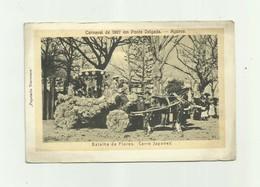 PORTUGAL - ACORES - Cp Rare Carnaval De 1907 Em Ponta Delgada Batalha De Flores Carro Japonez Animé Bon étatp - Açores