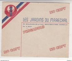 Au Plus Rapide Enveloppe Les Jardins Du Maréchal Pétain Francisque 23 Bd De La Paix Marseille Peu Fréquent - 1939-45