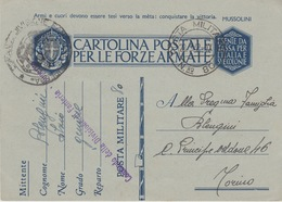 MILITARI/ B - CARTOLINA - POSTA MILITARE N°80 - Guerra 1939-45