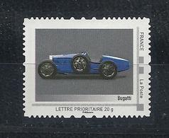 FRANCE 1219  BUGATTI  TIMBRE ADHESIF DE COLLECTOR - Voitures
