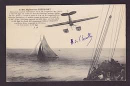 CPA Aviation Autographe Signature De L'Escaille Aviateur Avion écrite Hydravion Nieuport Corse Ajaccio Saint Raphaël - Aviateurs