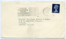Slogan Postmark On Cover Heating Ventilating Air Con Exhibition, Olympia, 1970 - 1952-.... (Elizabeth II)