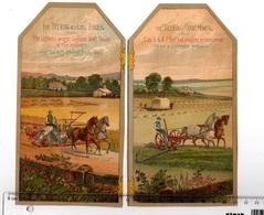 Chromo Américaine, USA, Etats Unis, 2 Big Size Trade Cards, Deering Agriculture Machines, Chicago - Autres